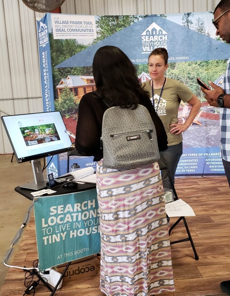 2018 Maryland Tiny House Expo - Attendee searching for communities